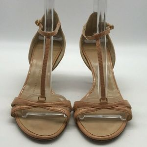 Giuseppe Zanotti Tan T- Strap Heel Size 7